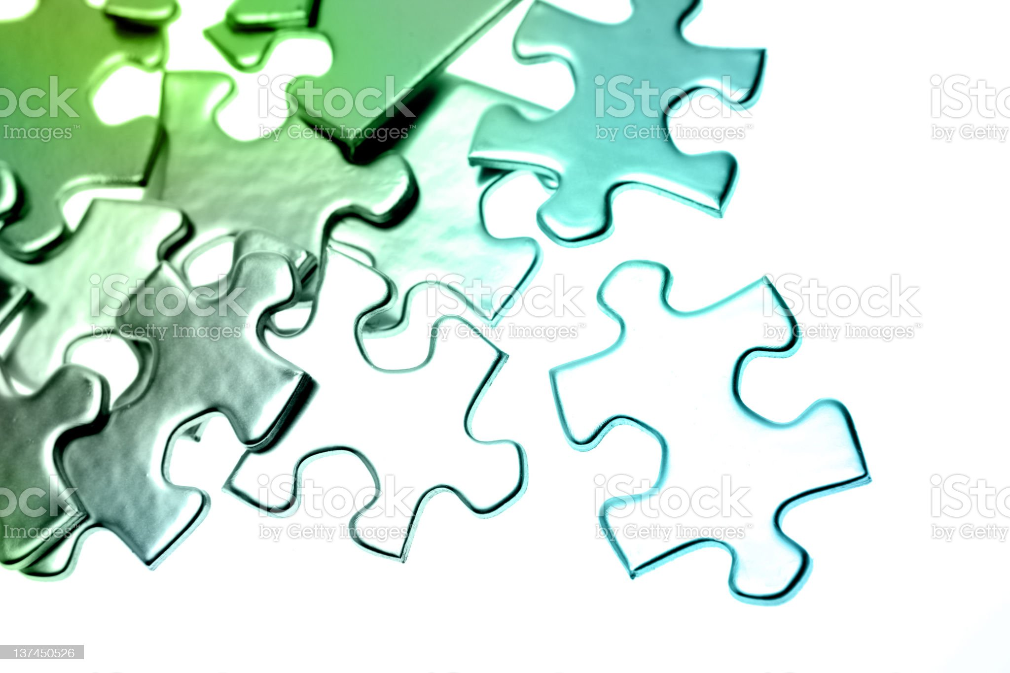 Puzzle pieces royalty-free stock photo