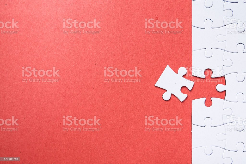 puzzle pieces stock photo