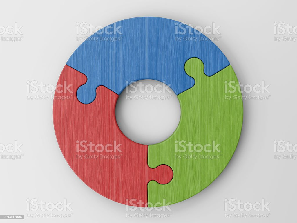 puzzle pieces to place your concepts with clipping path stock photo