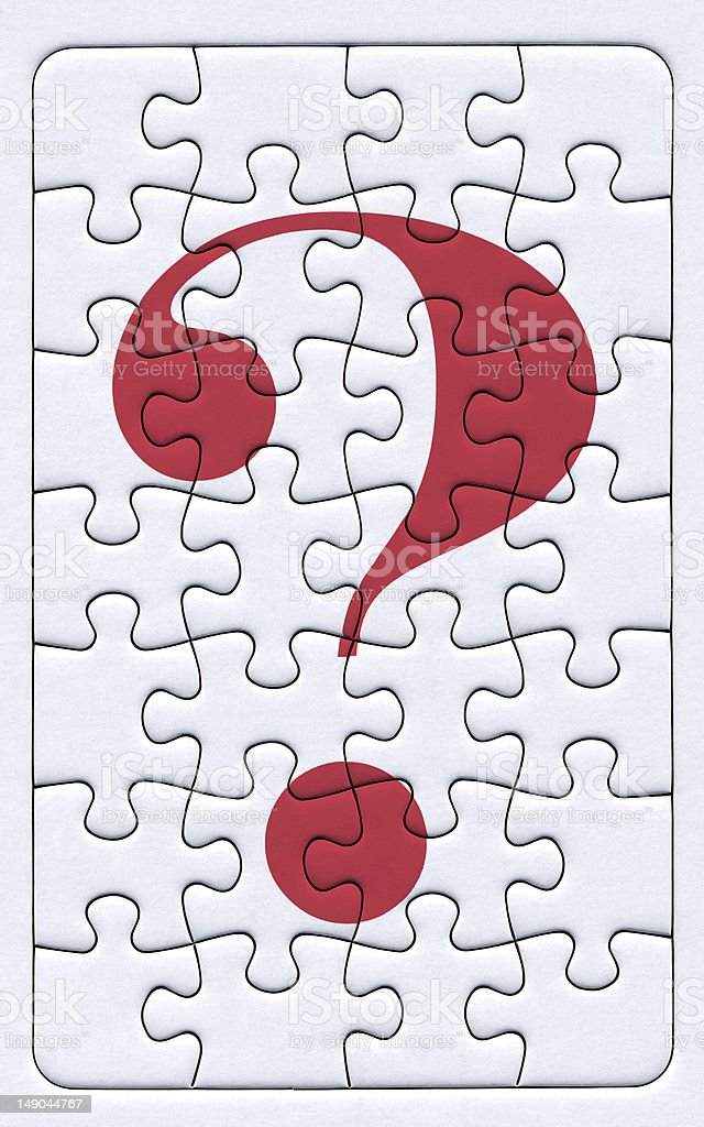 puzzle- question mark royalty-free stock photo