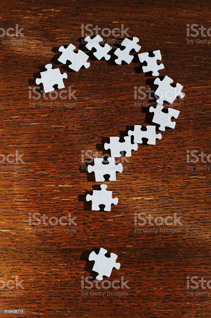 puzzle question mark royalty-free stock photo