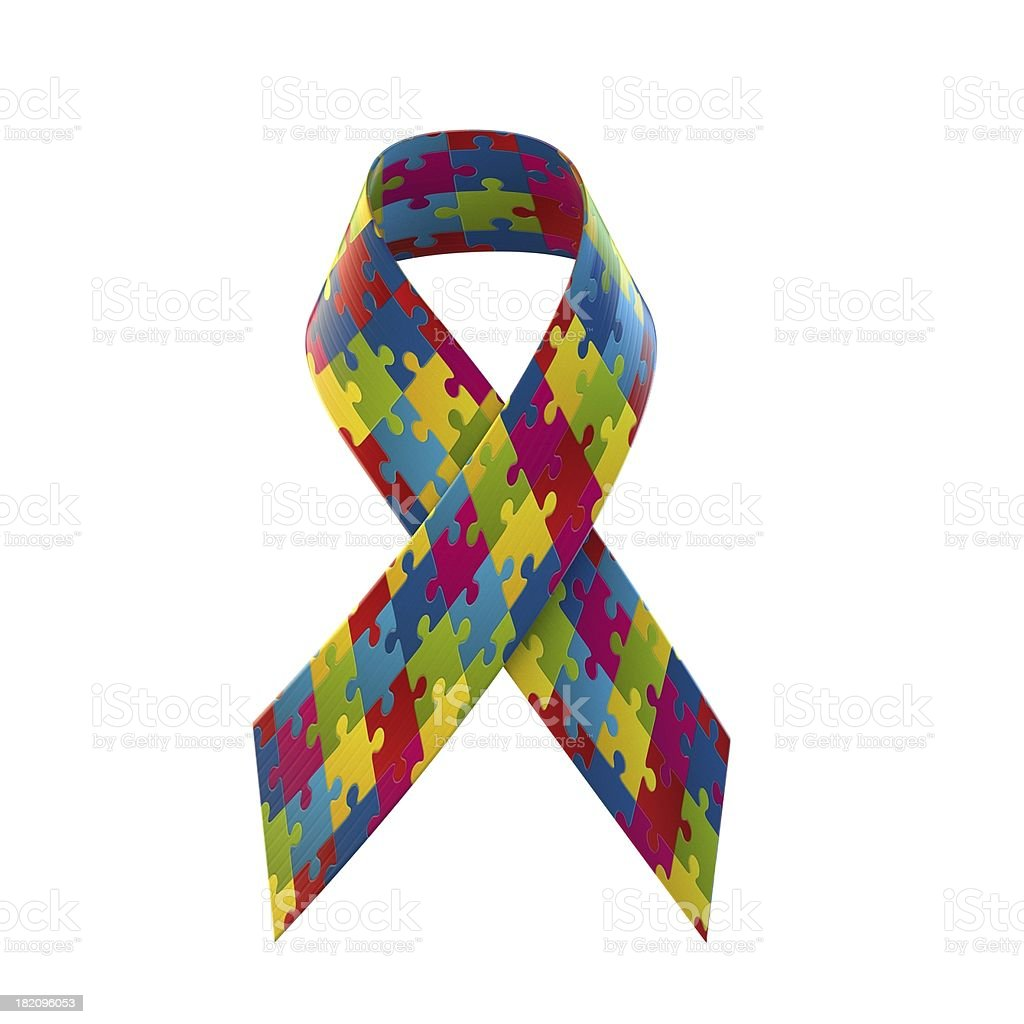 puzzle ribbon stock photo