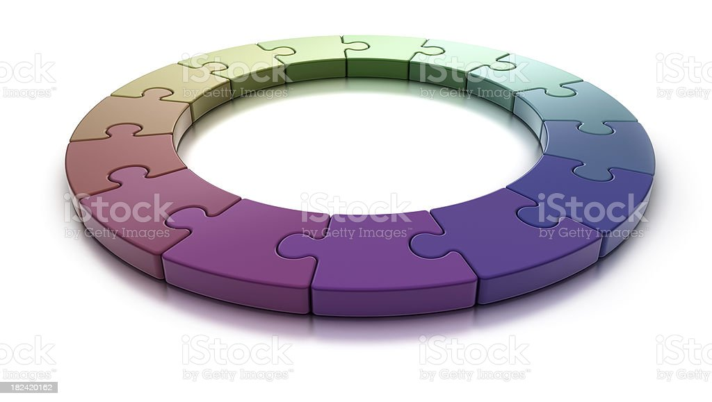 Puzzle Ring on white [colors] royalty-free stock photo