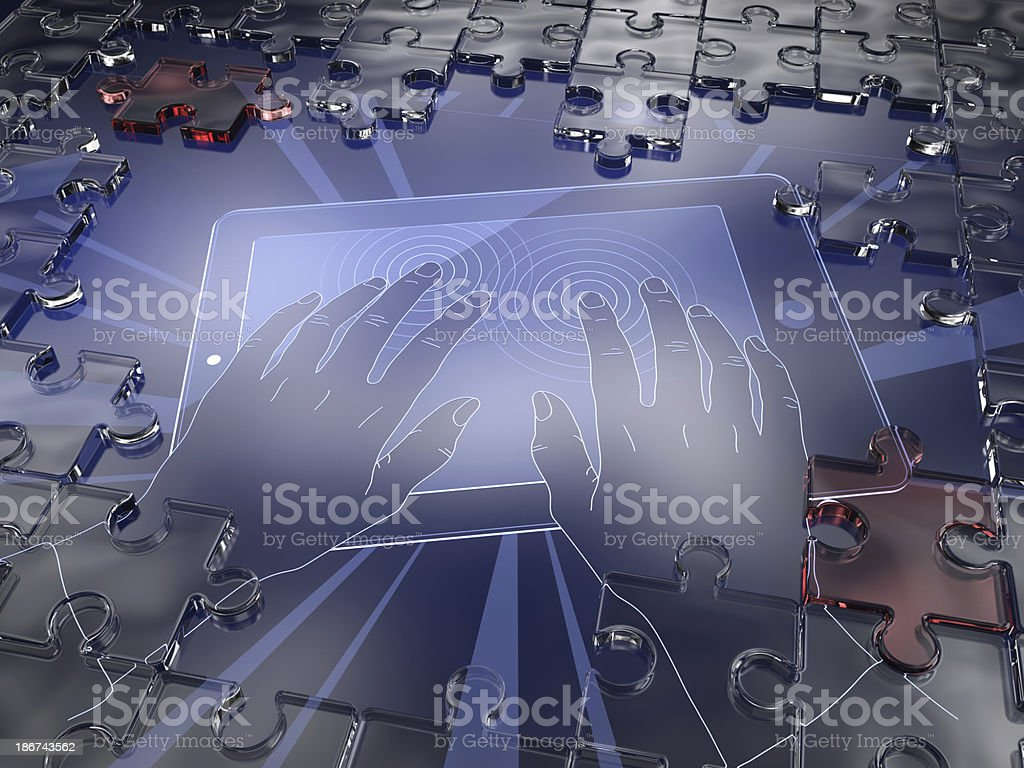 Puzzle Screen stock photo