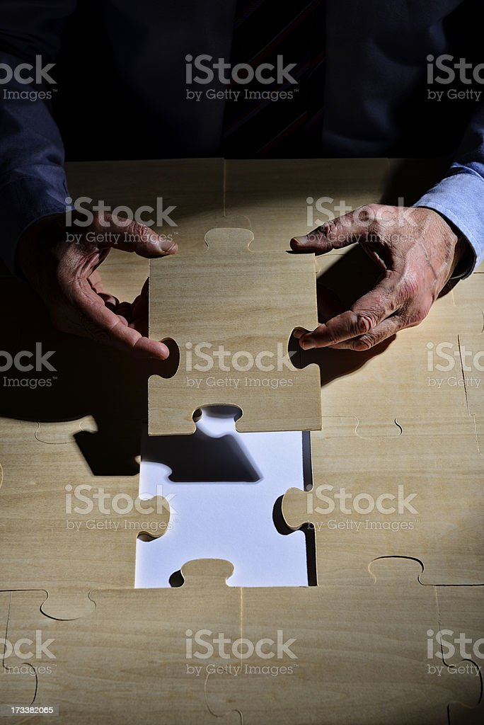 Puzzle Solution Concept royalty-free stock photo