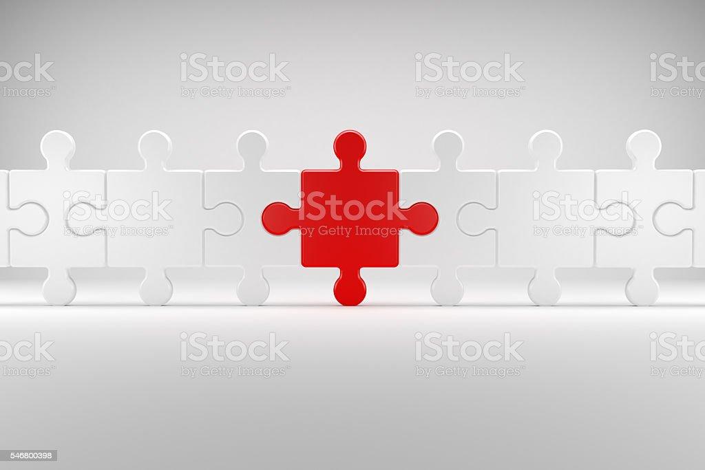 Puzzle symbolizes Team Spirit stock photo