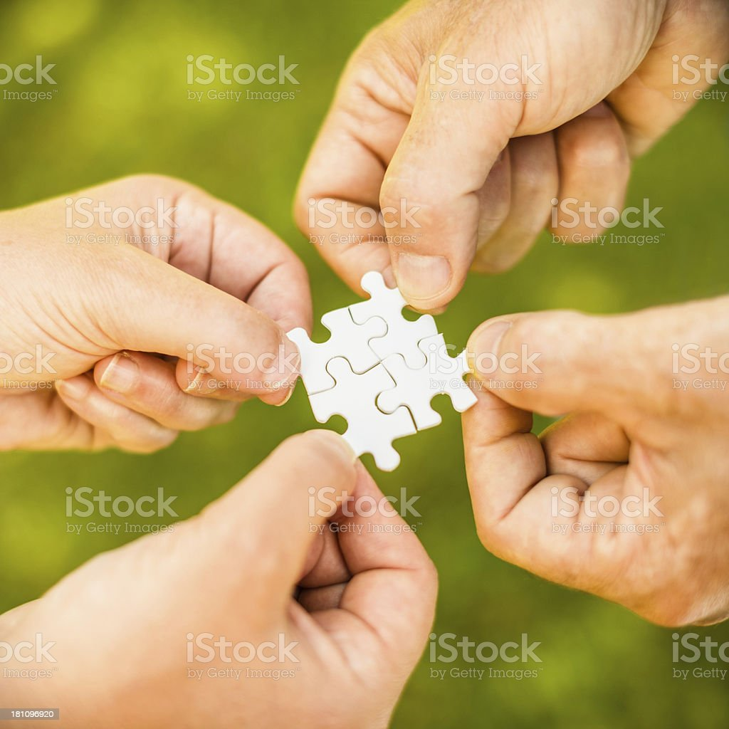 Puzzle teamwork royalty-free stock photo