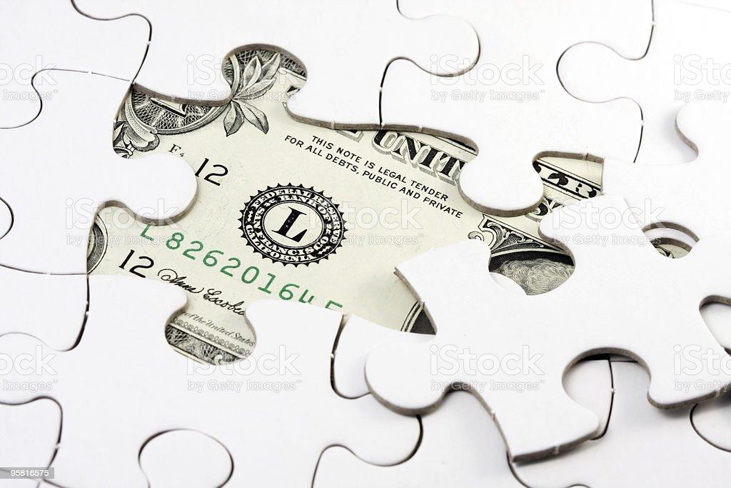 Puzzle US dollar royalty-free stock photo