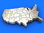 Puzzle USA Map