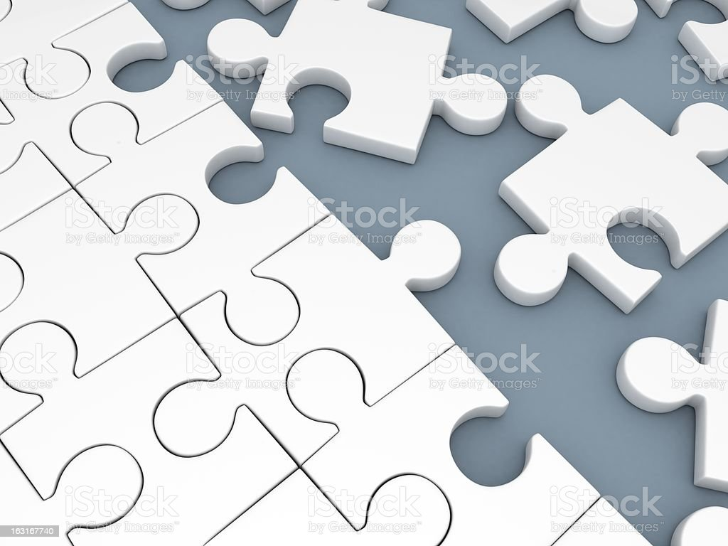 Puzzle white stock photo