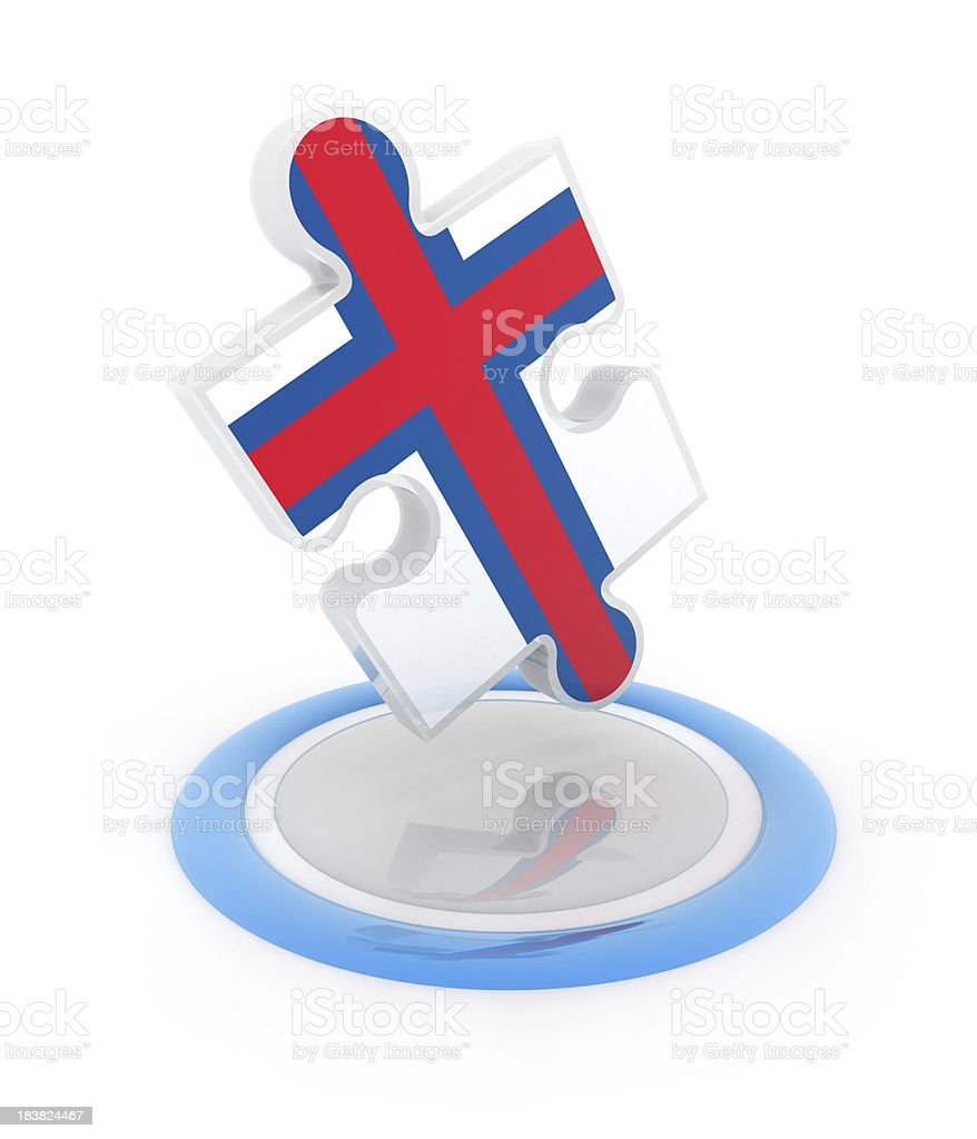 puzzle with Faroe Islands flag stock photo