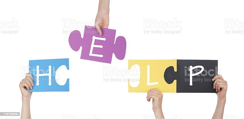 Puzzle With Help royalty-free stock photo