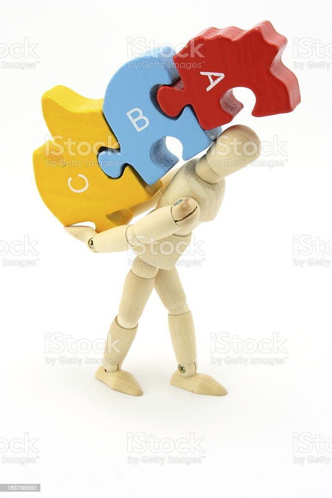 Puzzle worker royalty-free stock photo