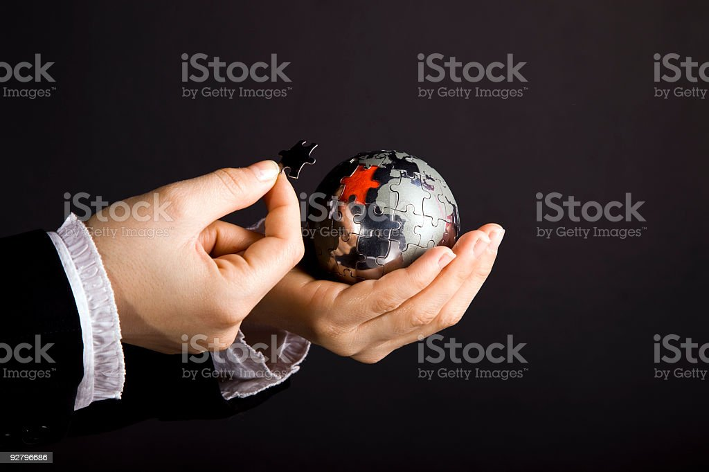 puzzle world royalty-free stock photo