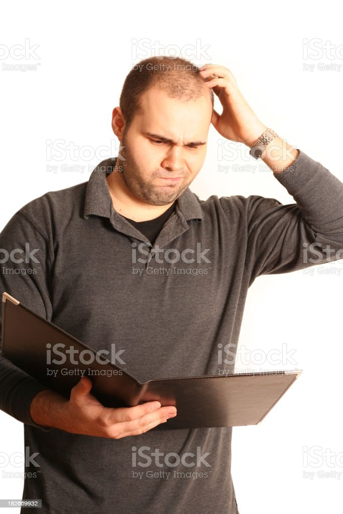 Puzzled businessman royalty-free stock photo