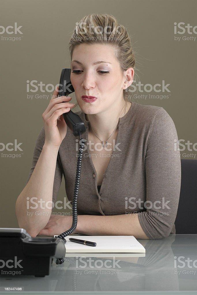 Puzzled Businesswoman stock photo