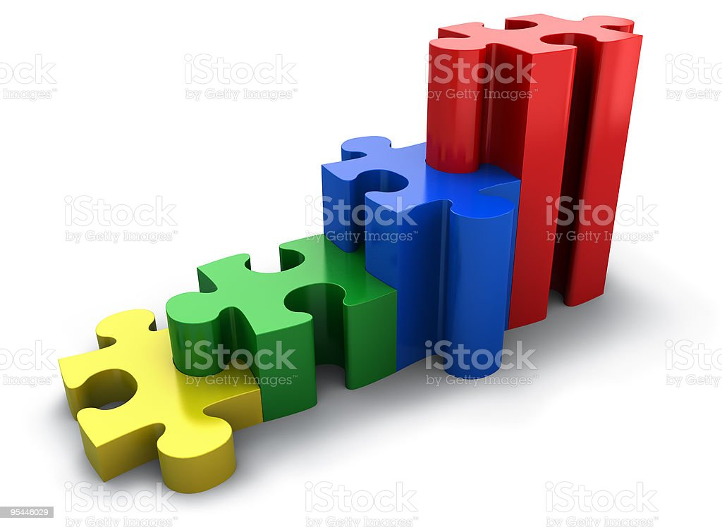 Puzzled graph stock photo