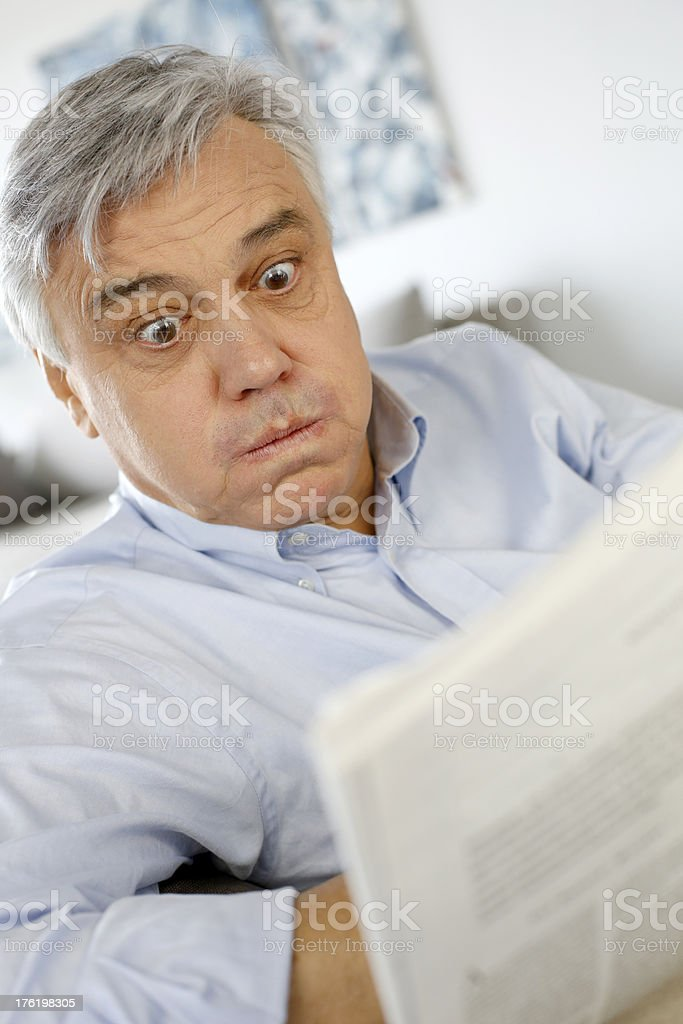 Puzzled look royalty-free stock photo