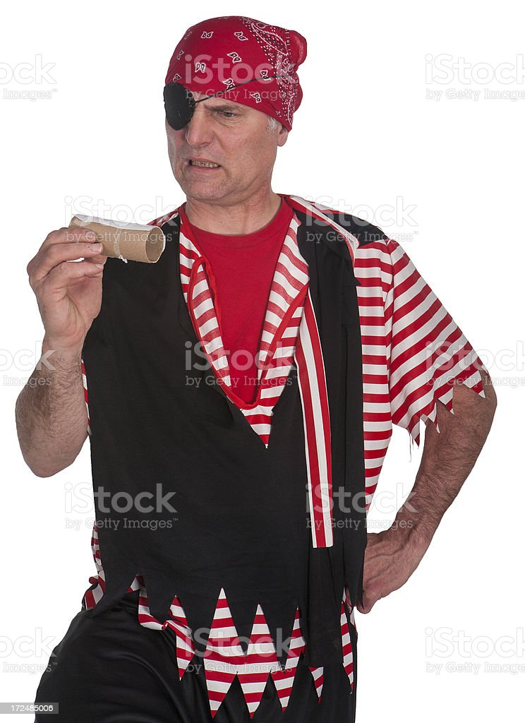 puzzled paperless pirate stock photo