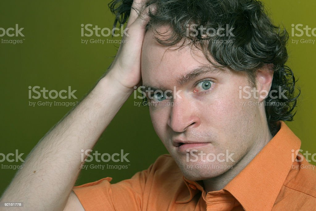 Puzzled! royalty-free stock photo
