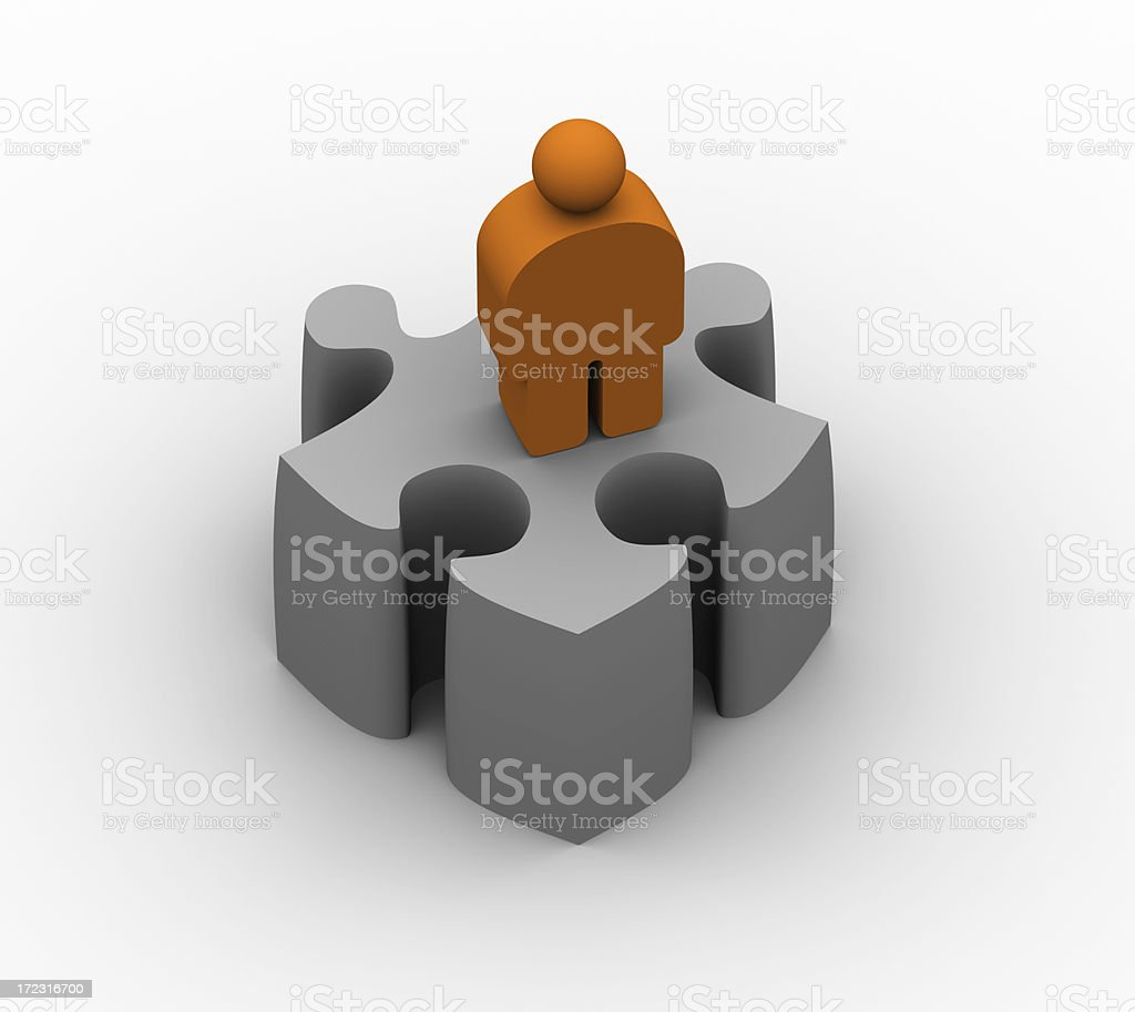 Puzzled user royalty-free stock photo