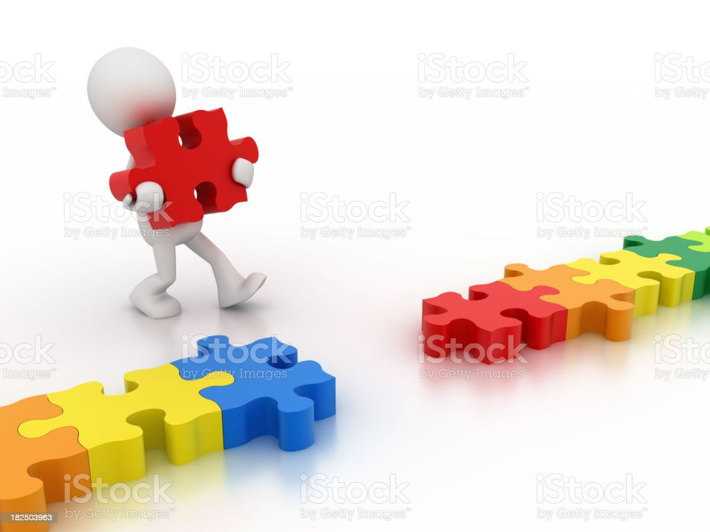puzzles connect royalty-free stock photo