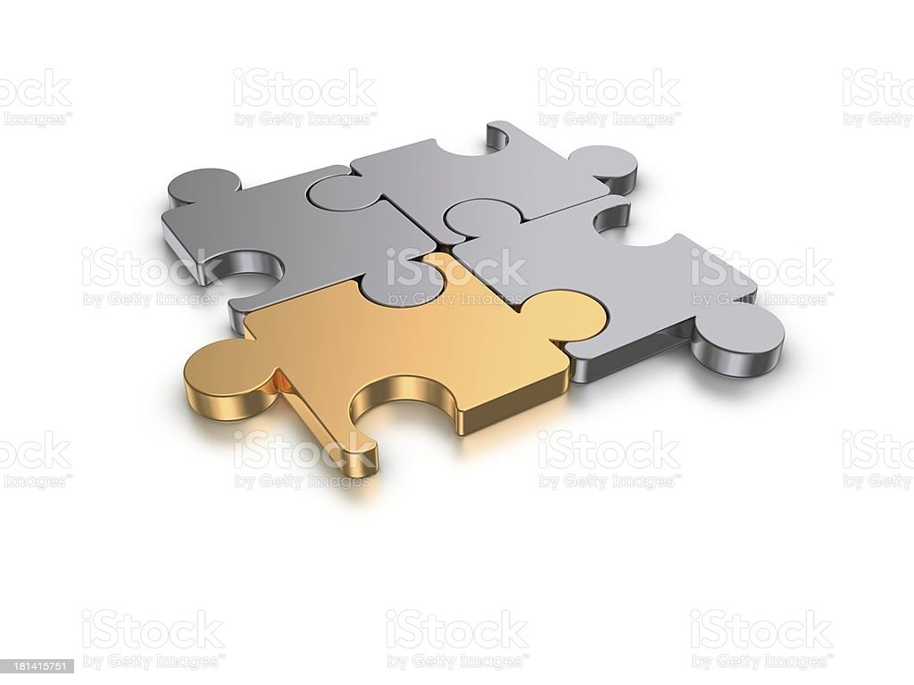 3D puzzles royalty-free stock photo