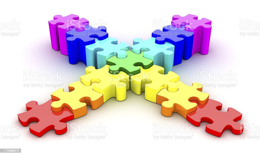 Puzzle-steps royalty-free stock photo
