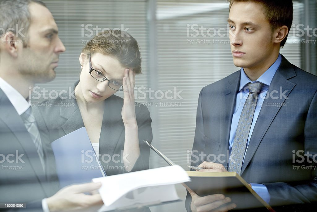 Puzzling information royalty-free stock photo