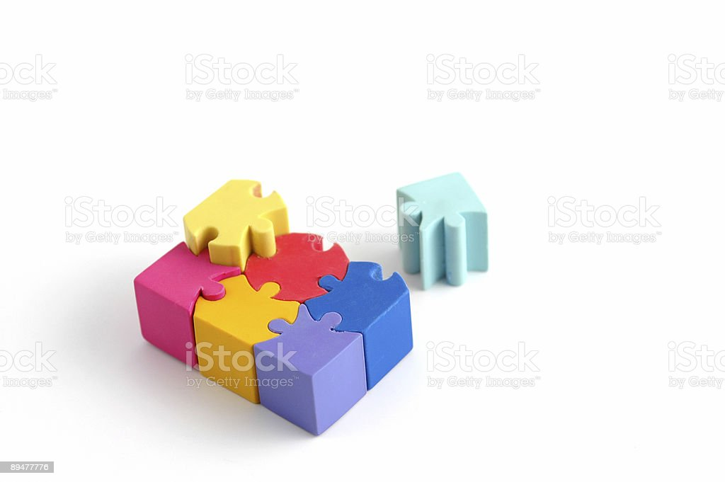 Puzzling it Together stock photo