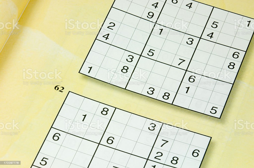 Puzzling puzzle stock photo