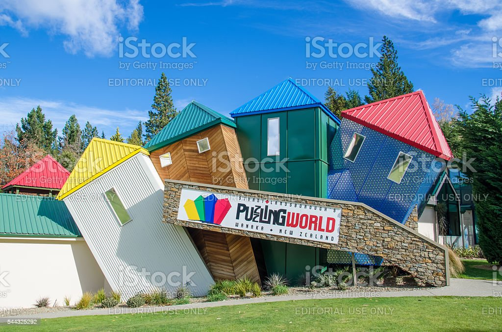 Puzzling World located at south island in New Zealand. stock photo
