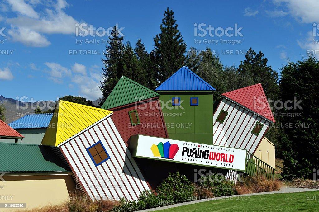 Puzzling World New Zealand stock photo