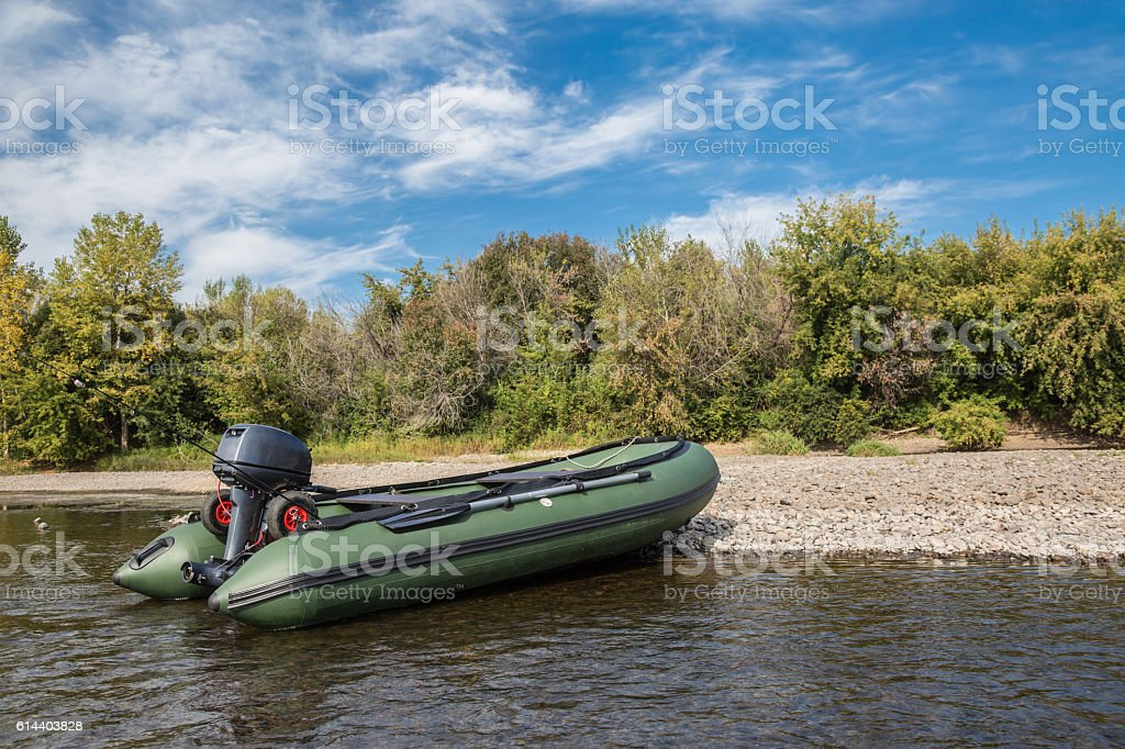Pvc boat stock photo
