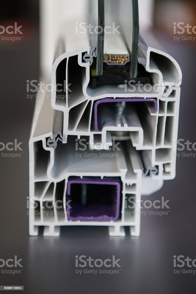 pvc protruded profile stock photo