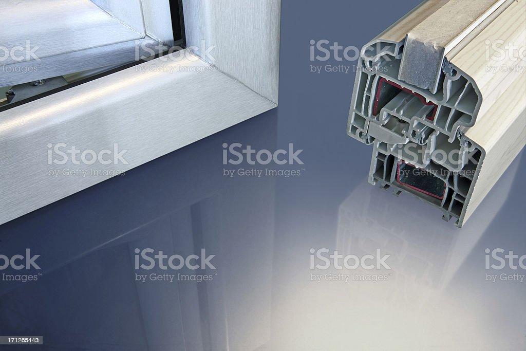 Pvc windows stock photo