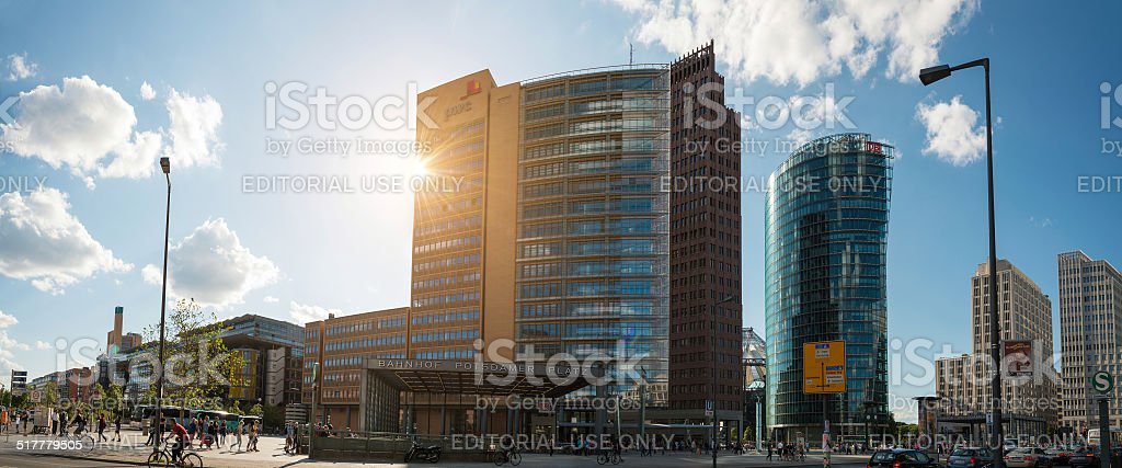 pwc building at Berlin Potsdamer Platz stock photo