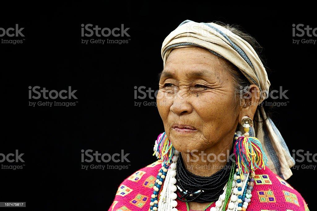 Pwo Karen Woman stock photo