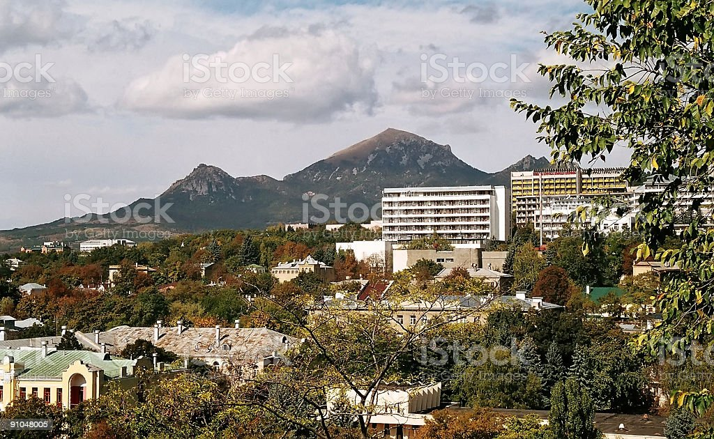 Pyatigorsk.Mountain Beshtau. royalty-free stock photo