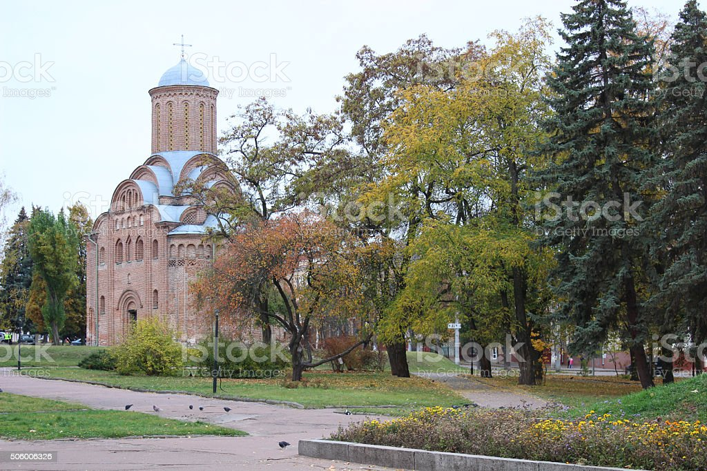Pyatnytska church in Chernigov stock photo