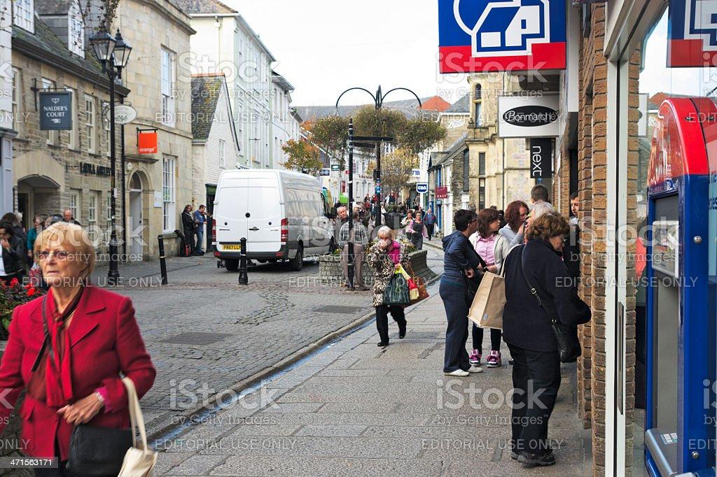 Pydar Street Truro Cornwall UK stock photo