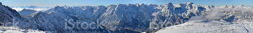 Pyhrn-Priel mountain range in upper austria stock photo