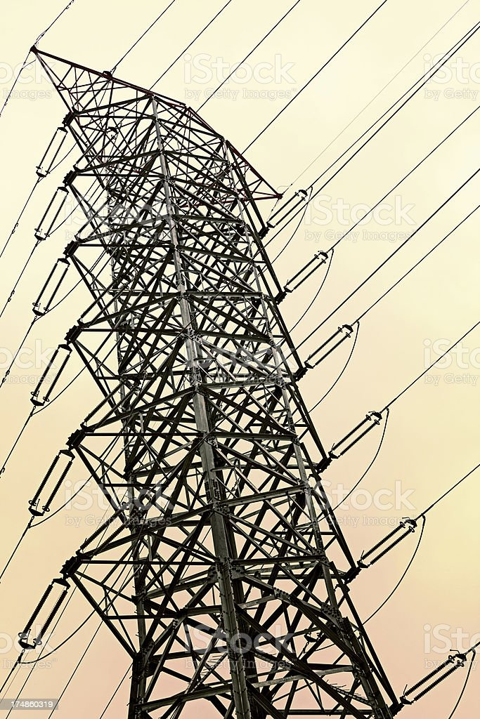 Pylon and Electricity line royalty-free stock photo