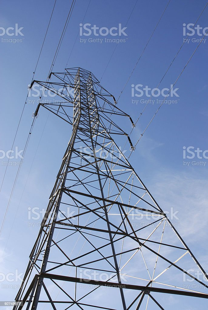 Pylon and electricity lines royalty-free stock photo