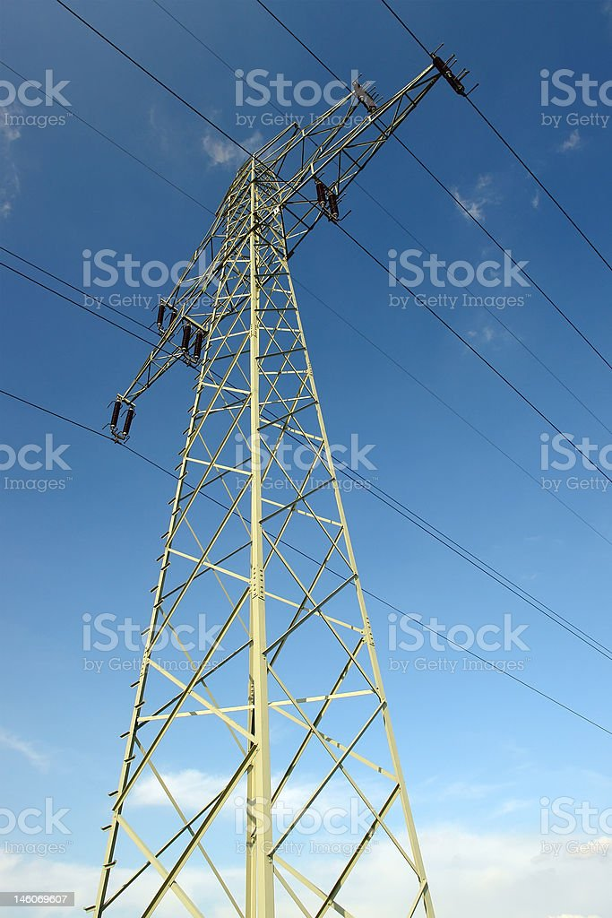 HV pylon royalty-free stock photo