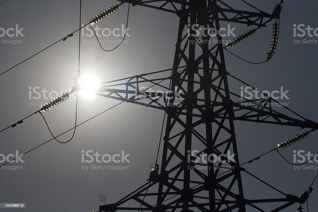 Pylon silhouette royalty-free stock photo
