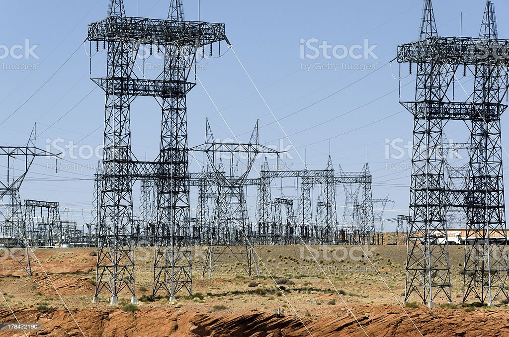 pylons in Page stock photo