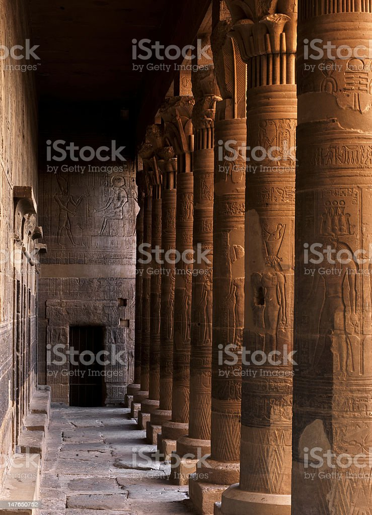 Pylons of the Philae Temple royalty-free stock photo