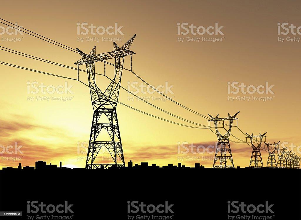 Pylons stock photo