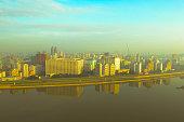 Pyongyang Morning Skyline